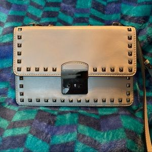 MK grey and studded crossbody